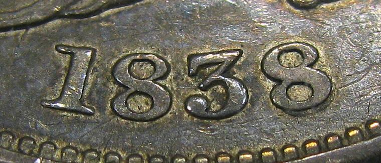 DM Rare Coins features 1838 Reeded Edge Capped Bust half dollar, PCGS CAC XF45 GR-16 RECUT DATE. Just 3 examples have been graded by NGC and PCGS.