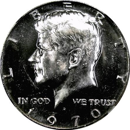 Deep Mirror Prooflike Kennedy half dollar compliments of DM Rare Coins coin photogrpahy service