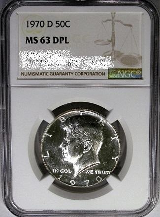 NGC slabbed Deep Mirror Prooflike Kennedy half dollar featured in DM Rare Coins blog