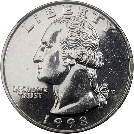 1998 P George Washington Quarter From Uncirculated Mint Sets Combined Shipping