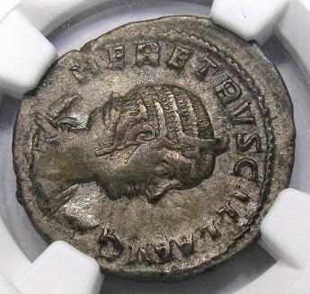 Reverse. Gordian III Anchient Roman Overstrike. Image courtesy DM Rare Coins coin photography service.
