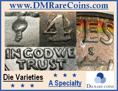 DM Rare Coins features CONECA and Cherrypicker's Guide die varieties like double die and RPM coins. We also specialize in Prooflike coins, seated liberty and capped Bust half dollars, and coin photography services.