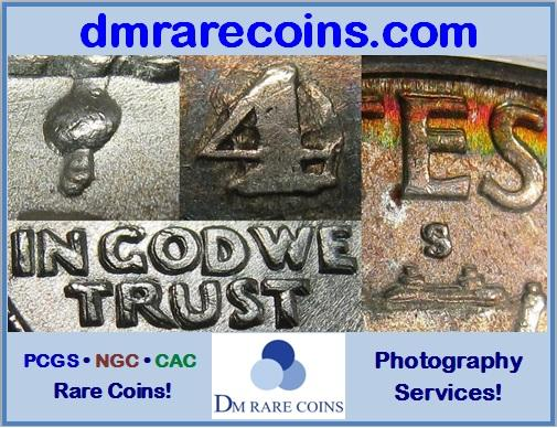 DM Rare Coins coin photography service & Cherrypicker's Guide die varieties shown in COIN WORLD Magazine ad.