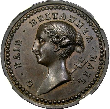 DM Rare Coins coin photography service provides an image of rare, NGC certified medal that is closely related to Betts medals of the French and Indian War.